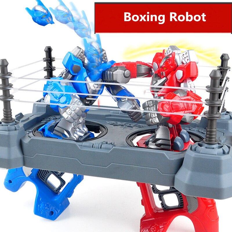 2pcs RC battle robot &2 players PK Mode/Remote Control RC VS Fighting Robot boxing Robot toys for children men Boxing Ring