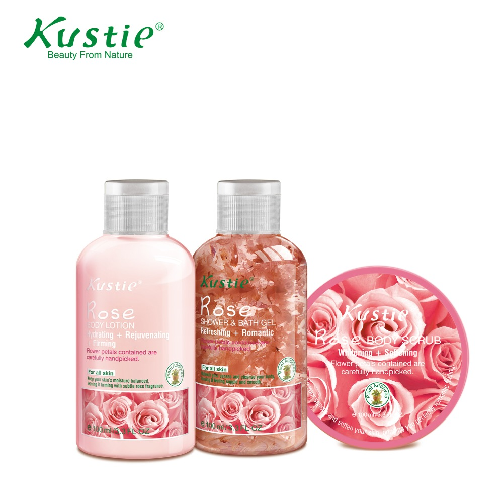 Kustie Special natural Body Care Collection Soothing & Refreshing Shower gel, Body lotion exfoliator body scrub logona daily care body lotion organic aloe verbena объем 200 мл