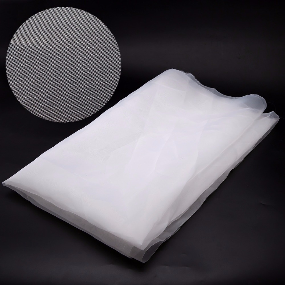 1 Yard White Polyester Silk Screen Printing Mesh 43T 110M Fabric Tool 100x127cm With Wear Resistance