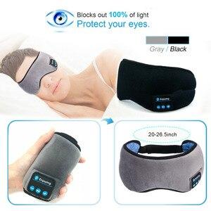 Image 5 - JINSERTA Wireless Bluetooth 5.0 Earphone Sleep Mask Phone Headband Sleep Soft Headphone For Listenting Music Answering Phone