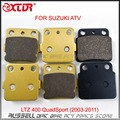 Motorcycle Brake Pads Set FRONT AND REAR For SUZUKI  ATV LTZ 400 QuadSport (2003-2011) LTZ400 LT-Z LT-Z400