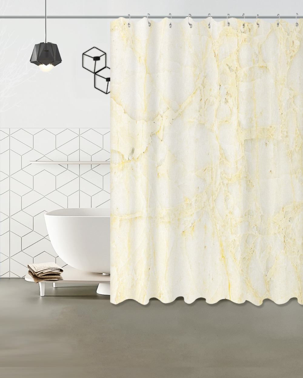 Us 14 12 47 Off Fabric Polyester Cream Marble Veins Waterproof Shower Curtains Fabric Bathroom Shower Curtains 180x180cm Or 150x180cm In Shower