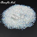 2MM 2000pcs Crystal Clear Jelly AB Color Nail Art Resin Rhinestones Non HotFix Rhinestones For Nail Art Decorations  Accessories