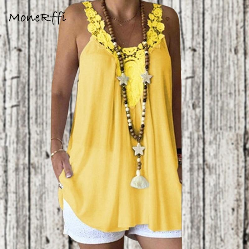 Monerffi Sleeveless Tops Camis Female Sexy Plus-Size Fashion Summer Women 5XL Casual