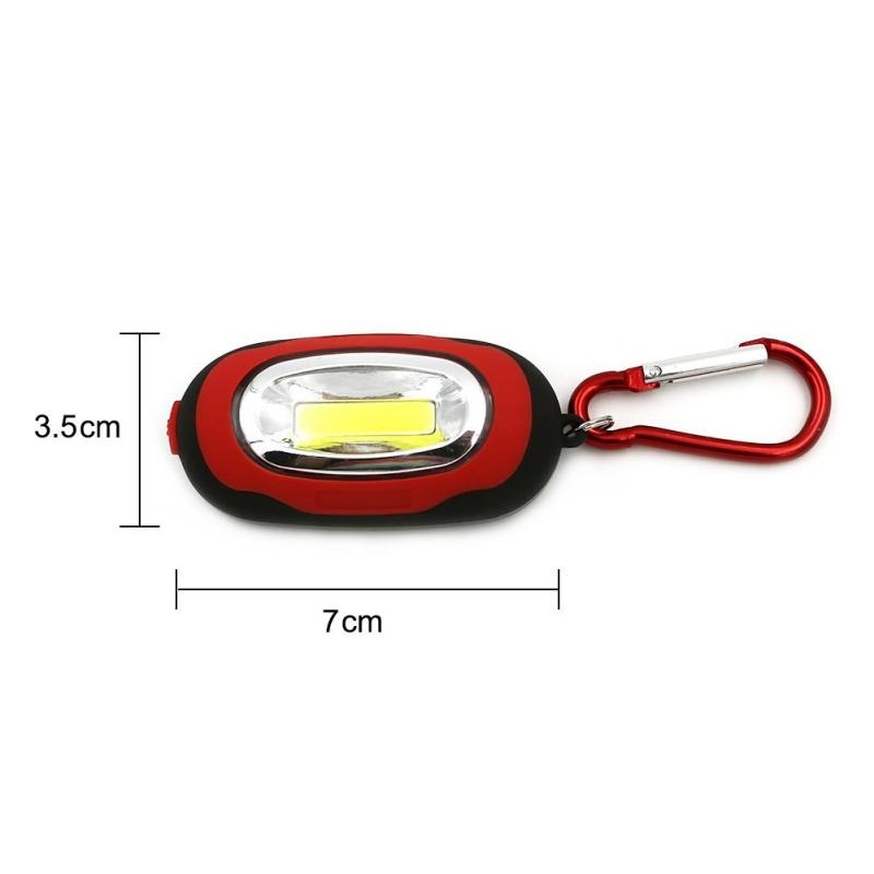 2018 New Home Keychain Lighting Cell Button Outdoor Car Home Key COB Mini Keychain Light Small Flashlight Red Blue Yellow
