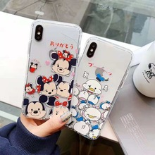 Cartoon Mickey Minnie Donald Duck Daisy Transparent Soft TPU Case For iPhone XS XR MAX X 6 6S 7 8 Plus
