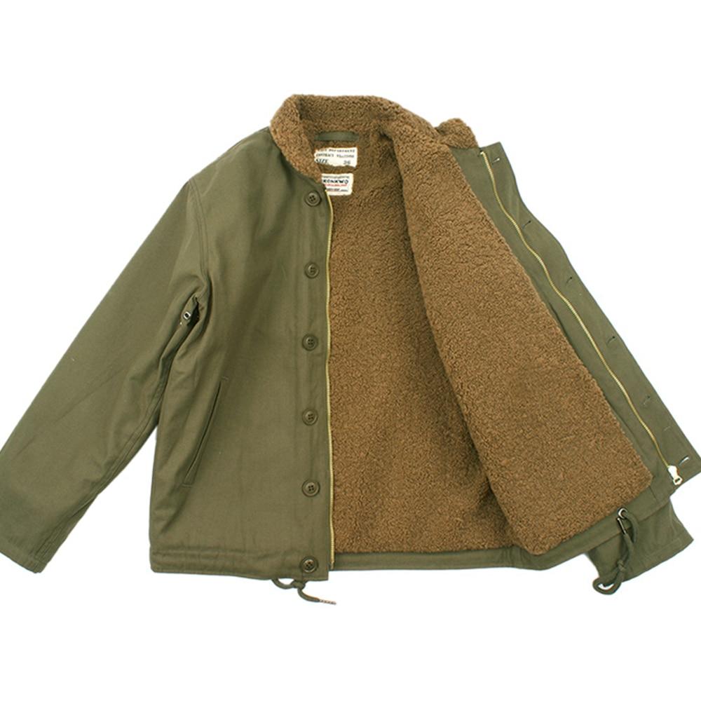 Winter Camel Hair Fleece Jacket Coat Men Cargo Vintage N1 Jacket Stand Collar N-1 Parka Slim Cashmere Coat 2018 MenS Clothing Куртка