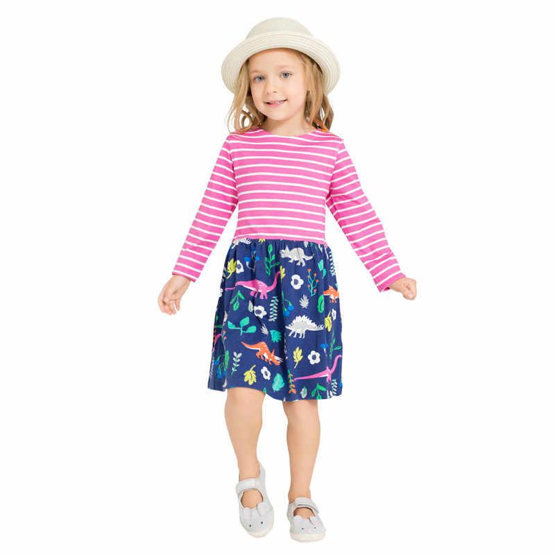 Little Bitty eenhoorn lange mouwen jurken baby meisjes top kwaliteit cartoon jurk met gedrukt sommige eenhoorns schattige meisjes jurk 2018