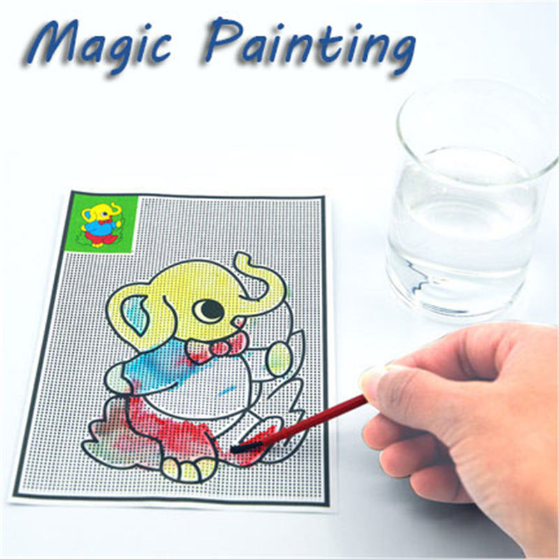 5Pcs Magical Water Painting Pictures Drawing Paper Pens Mats Kids Children Development Learning Toys in Drawing Toys from Toys Hobbies