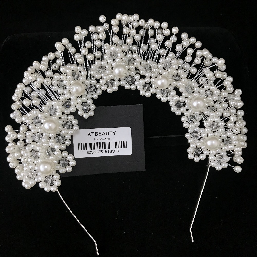 News Rhinestone Pearl Custom Made Tiara Handmade Fashion Hairband Royal Bridal Wedding Dressing Crown Accessory Women Jewelry-in Hair Jewelry from Jewelry & Accessories on Aliexpress.com | Alibaba Group