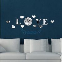 modern wall clock design wanduhr wandklok diy relojes pared self adhesive home decor pared relogio parede watch love plastic