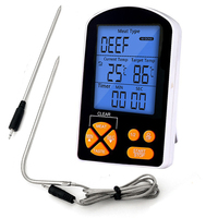 EAAGD Digital Cooking Food Meat Thermometer With Dual Probe For Smoker Grill BBQ Milk Coffee Tea