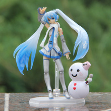 Can move FaceSwipe Hatsune Miku snowman action & toy figures Collectible Brinquedos Edition PVC figure toys for children 88w