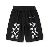 OFF WHITE C/O VIRGIL ABLOH OW 19ss streetwear MEN BLACK Multi arrow printed cotton thin summer cotton shorts