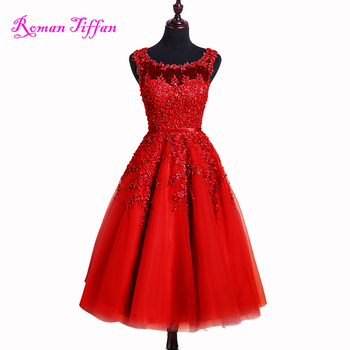 Short Prom Dresses 2017 Roman Tiffan Real Photo Vestidos A-line Sleeveless Appliques Beaded Graduation Cocktail Party Gown