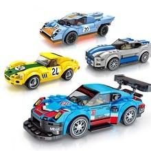 Новая техника город супер гонщиков Скорость суперкар гоночный автомобиль для детей Рождественский совместимый подарок с Legoings автомобиля