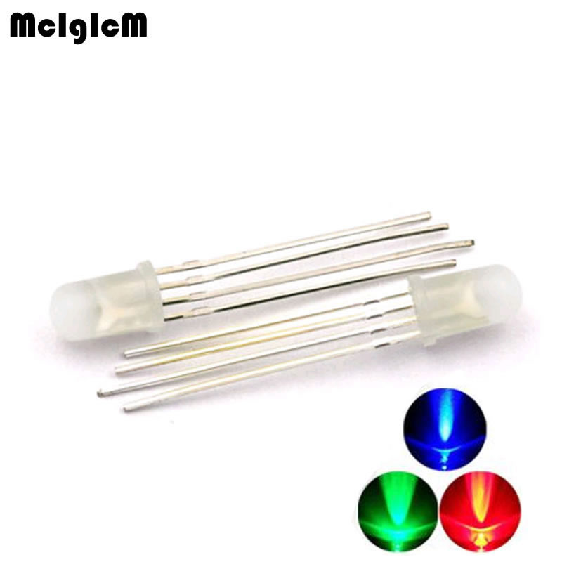 5mm full color LED RGB red green and blue Four feet transparent highlight color Controllable seven