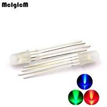 5mm מלא צבע LED RGB אדום, ירוק וכחול ארבעה רגליים שקוף צבע סימון לשליטה שבעה אורות אנודה משותף