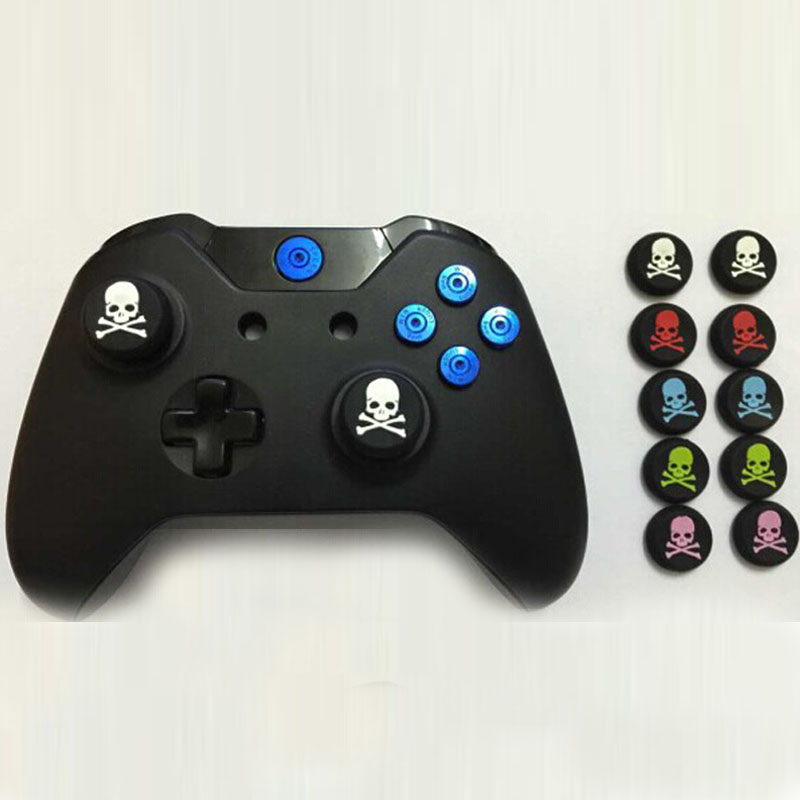 4PCS Skull Grips Cap Gamepad Joystick Cover Case For Sony PlayStation Dualshock 3/4 PS3 PS4 Xbox One 360 Controller ThumbStick