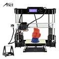Anet de alta precisión 3D Impresora de nivel automático y Normal A8 Impresora 3D DIY Kit de Impresora 3d Metal, acrílico, 8 GB tarjeta SD 10 m de filamento