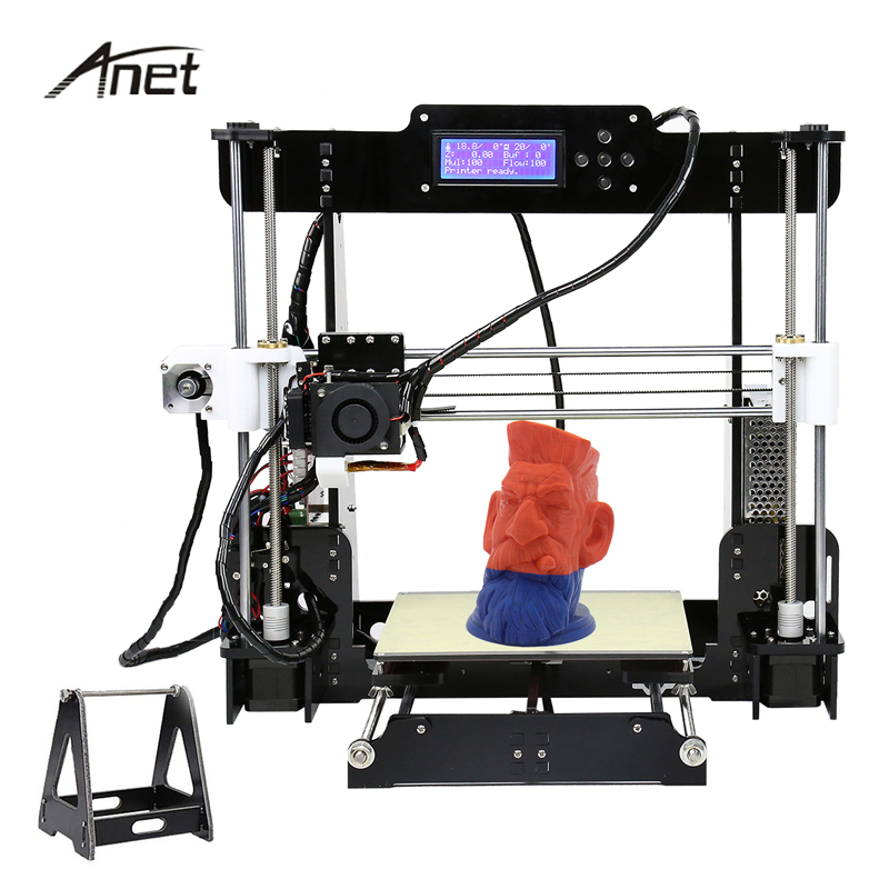 Anet High Precision 3D Printer Auto Level & Normal A8 Impresora 3D DIY Kit imprimante 3d Acrylic Metal 8GB SD Card 10m Filament ship from us anet a8 3d printer high precision reprap prusa i3 diy hotbed filament sd card 2004 lcd auto level