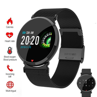 Smart watch Women men Clock Smartwatch Wristband Waterproof Heart Rate Sleep Monitor Blood Pressure For Facebook Android IOS