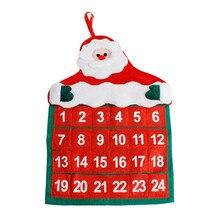 Адвент календари рождественские украшения Санта Клаус календарь отель лобби семья кулон U70928