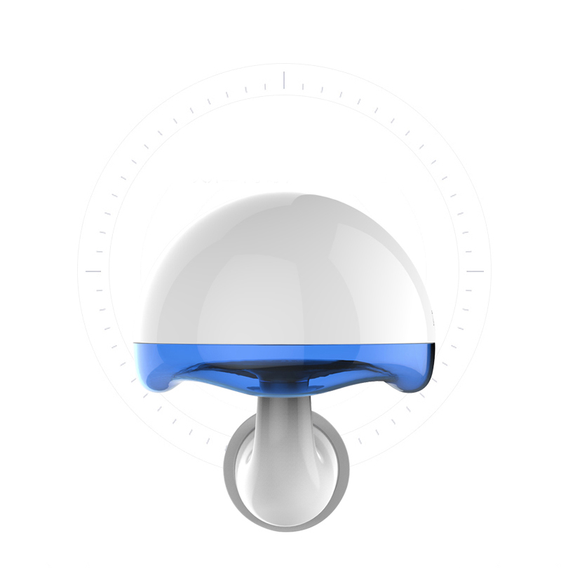 Duration Power 3W LED Night Light Lamp Cartoon Mushroom Lamp with USB Output Remote Control for Kid Bedroom US Plug Yellow Blue
