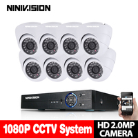 8CH CCTV System 1080P HDMI AHD CCTV DVR 8PCS 2 0MP 3000TVL IR Dome Camera 1920