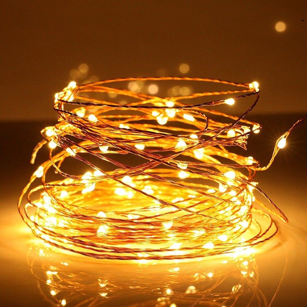 Cute LED String Lights,10m 5V USB 100 LEDs Silver Copper Wire LED Starry  light 33ft LED decoration for room / outside -in LED String from Lights &  Lighting ...