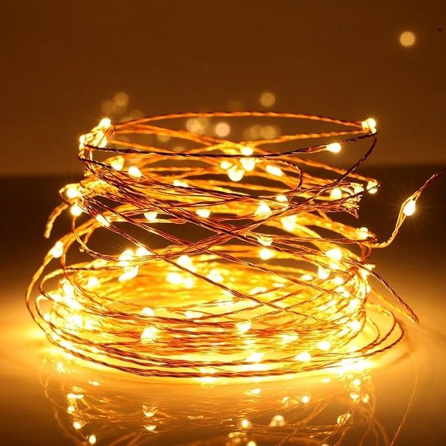 Cute LED String Lights,10m 5V USB 100 LEDs Silver Copper Wire LED Starry  light