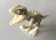 1PCS Jurassic World Park Minifigures Dinosaur Bricks Mini Figures Building Blocks Super Heroes baby toys