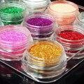Polvo del Brillo del clavo 3d Sugerencia Rhinestone Manicura Herramientas Nail Art Nail Polish Glitter Lentejuelas Ongles 12 Botellas/set M01090