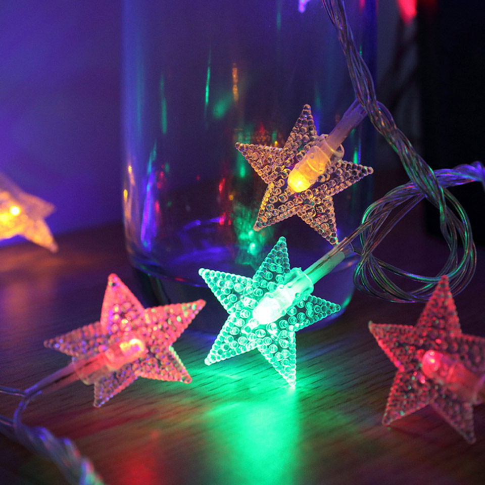 Battery Operated Outdoor Christmas Trees: 5m 6m Christmas Lights Outdoor Indoor LED Stars String