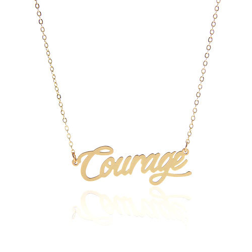 4c2db5523 AOLOSHOW Personalized Name Customized Gold Color Initial Carrie Font  Stainless Necklace