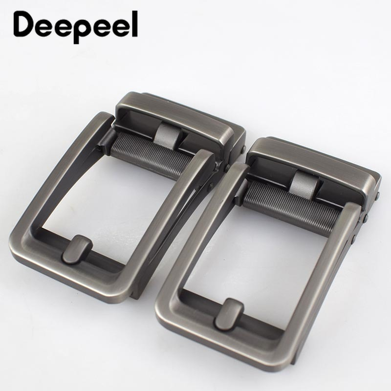 Solid Metal Belt Buckels For Business Men Fashion Automatic Belt Buckle Head Waistband For 34-35mm Belts Mens Jeans Accessories