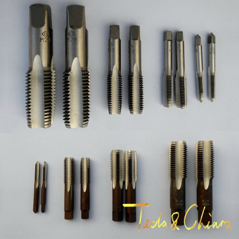 1pc HSS Machine M14 X 0.75mm Plug Tap and 1pc M14 X 0.75mm Die Threading Tool