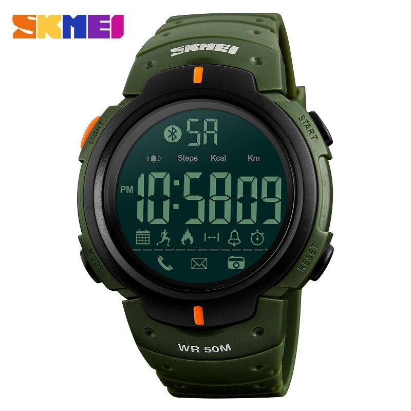 SKMEI 1301 Hommes Montre Smart Watch Chrono Calories Podomètre Multi-Fonctions Sport Montres Rappel Numérique Montres Relogios Horloge