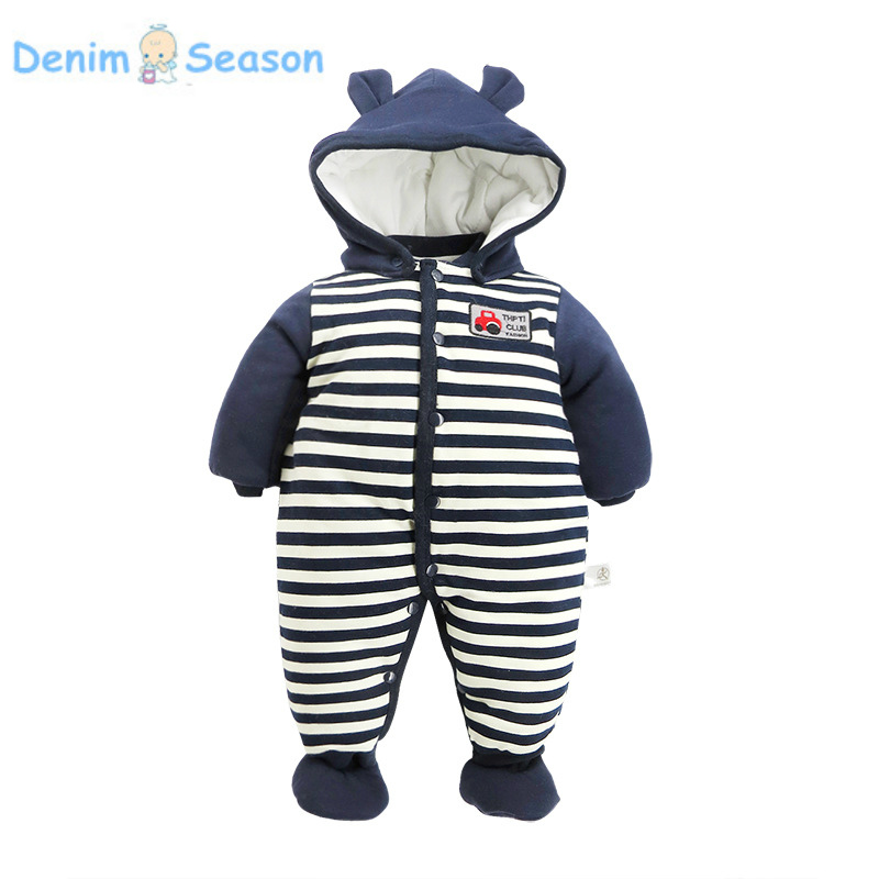Denim Season 0-24m Newborn Baby Clothes Cotton Thicken Warm Fantasia Baby Boy Romper Set Animal Jumpsuit Baby Boy Winter Rompers warm thicken baby rompers long sleeve organic cotton autumn