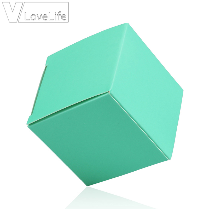 50pcs Square Candy Box Paperboard Jewellery Gift Boxes Wedding Party Birthday DIY Decorations 5cm x 5cm x 5cm