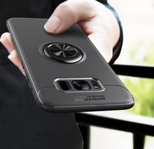 Rotating Finger Ring Magnetic Car Holder Case For Samsung Galaxy S8 S8+ S8 Plus / S9 S9+ Plus Back Cover Silicone Cases Note 8(China)