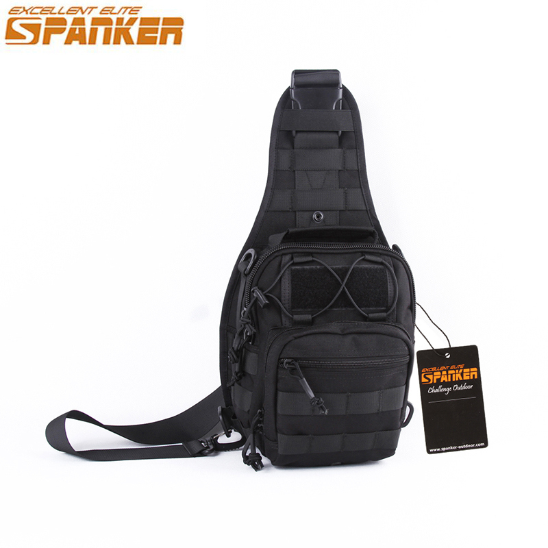 48940df2ea5d Spanker Men s Tactical MOLLE Single Bags Outdoor Hunting Camping Backpack  Military 1050D Nylon Hiking Sports Climbing ...