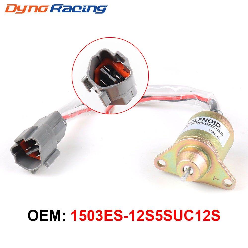 1PC 12V Car Fuel Shut Down Solenoid Valve Metal For Hyundai Daewoo Komatsu For Replace Yanmar 11923377932 1503ES-12S5SUC12S