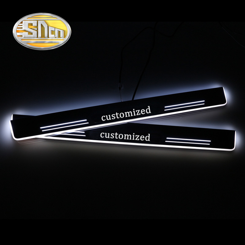 SNCN 4PCS Car LED Door Sill For Lexus ES250 ES350 2013 2014 2015 Ultra thin Acrylic