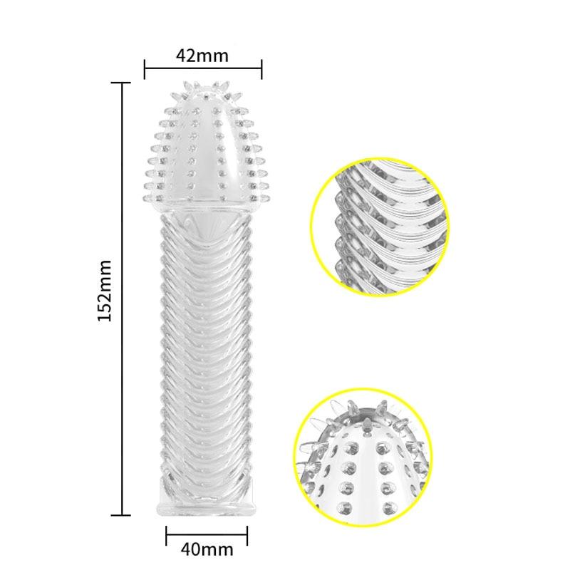 hc041 Penis Sleeve Cock Ring Sleeves Condoms (26)