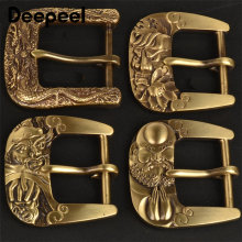 Deepeel ID 40mm Men's Solid Brass Belt Pin Buckle Dragon Style Buckle for Pants Jeans DIY Jeans Clothes Decor Accessories AP661(China)