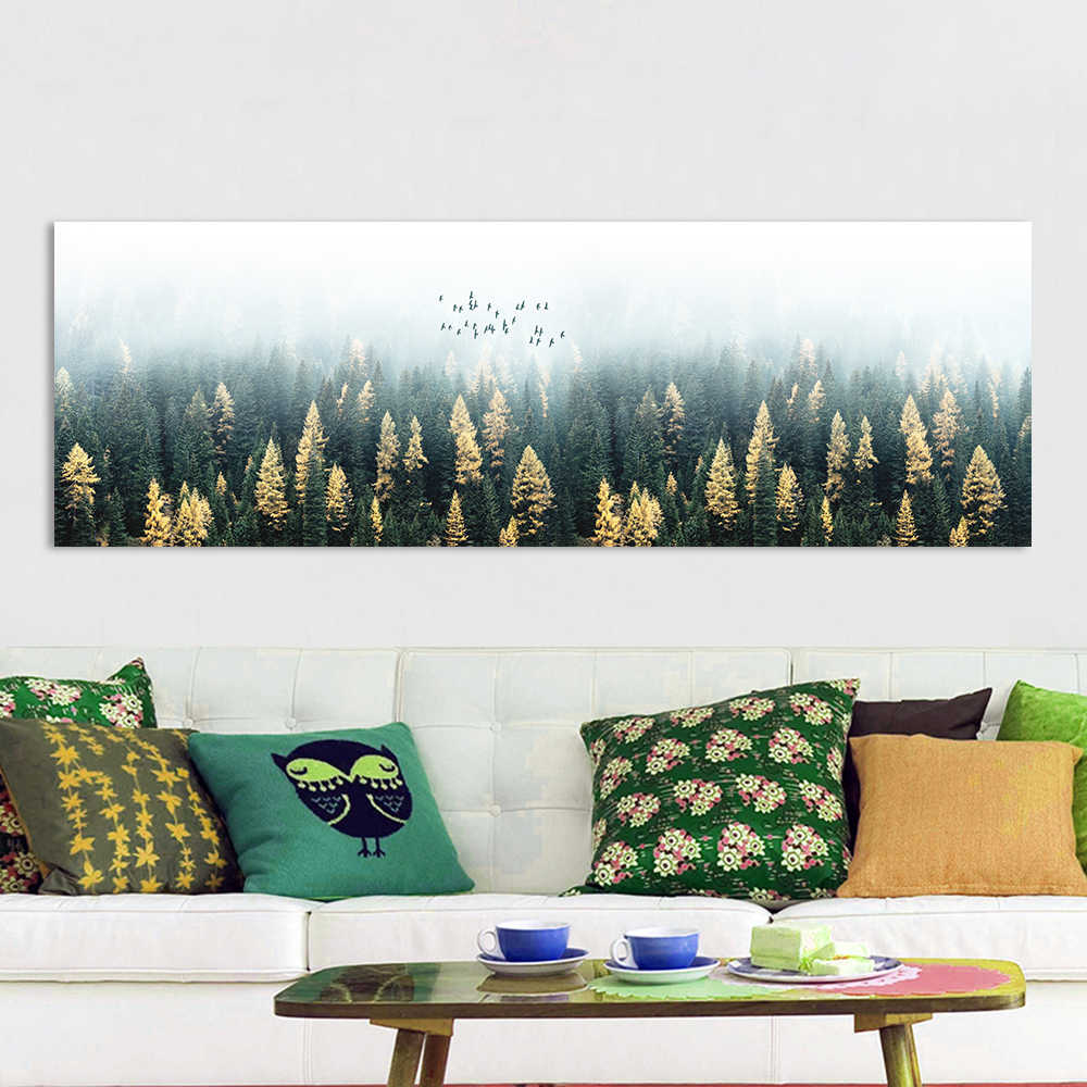 HDARTISAN Wall Art Painting Canvas Picture Abstract Landscape Print For Living Room Home Decor No Frame
