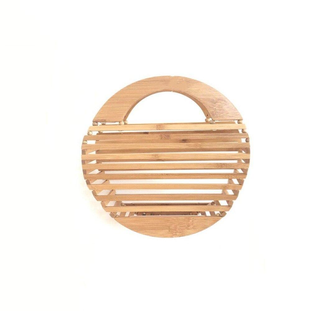 Bamboo Handbags For Women 2019 Hollow Out Summer Beach Bags Handmade Ladies Luxury Designer Mini Top-handle Tote Clutch Bag