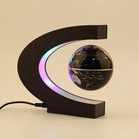 Fashion LED Floating Tellurion C Shape Magnetic Levitation Floating Globe World Map With LED Light Santa