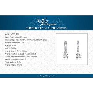 Image 5 - JewelryPalace 1ct клип серьги стерлингового серебра 925 Свадебные Юбилей украшения для Для женщин модные вечерние подарок 2018 Лидер продаж